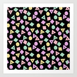 Mikkel - pastel shapes minimal abstract pattern design charlotte winter prints Art Print