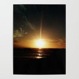 Sunset at Tenerife Poster