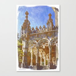 Gothic tracery, Bucaco, Portugal Canvas Print