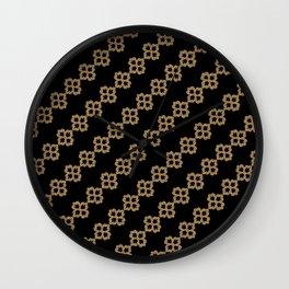 Black Gold Fleur Wall Clock