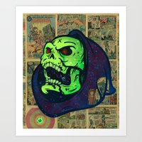 skeletor Art Prints featuring Skeletor by Beery Method