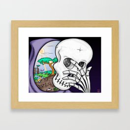 Life Mask Framed Art Print