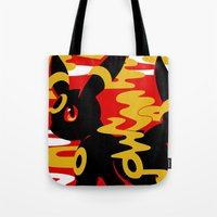 umbreon Tote Bags featuring #197 - Umbreon by Solis