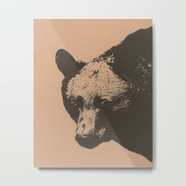 Bear face greeting Metal Print