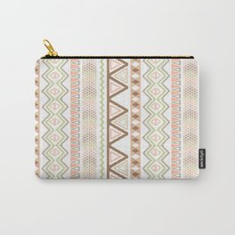 Aztec Andes Pattern Pink Brown Abstract Geometric Carry-All Pouch