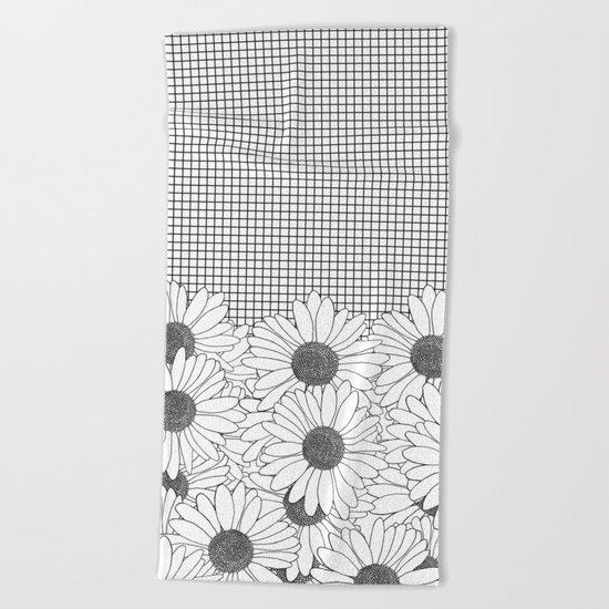 Daisy Grid Beach Towel