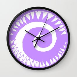 Round Scream in Purple Wall Clock