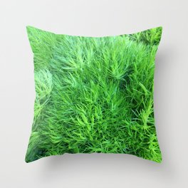 Dianthus Green Trick Throw Pillow