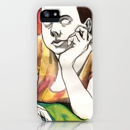Girl on Red iPhone Case