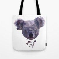 koala Tote Bags featuring KOALA by MGNFQ