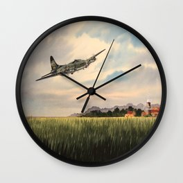 B-17 Flying Fortress Aircraft Wall Clock