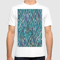 Ikat4 MEDIUM White Mens Fitted Tee