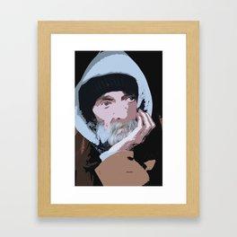 Homeless Portrait Framed Art Print