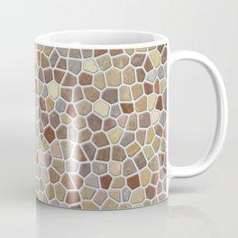 Faux Stone Mosaic in Tan Coffee Mug