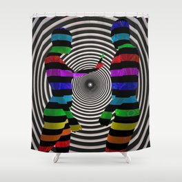 Dissension-3D Art Shower Curtain
