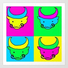Water Buffaloes Art Print