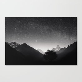 Himalayas at Night Canvas Print
