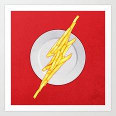 Flash Food Art Print