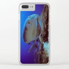 Snooty Shark Portrait Clear iPhone Case