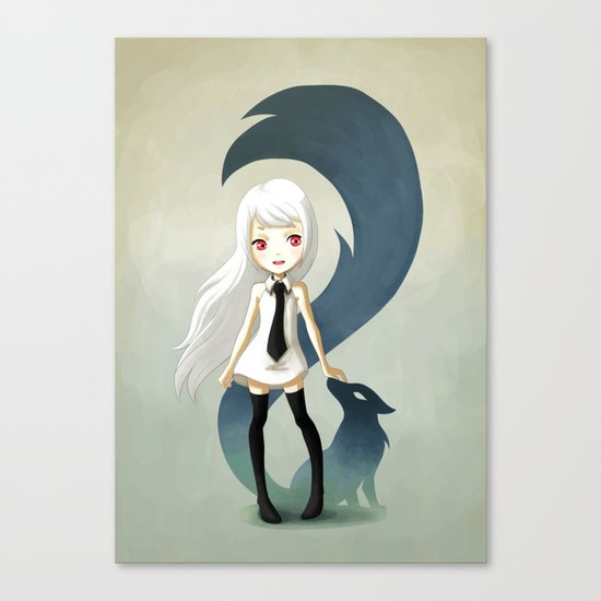 Fox Daemon Canvas Print