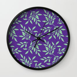 leaves pattern 3 Wall Clock