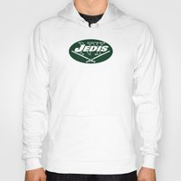 nfl Hoodies featuring New York Jedis - NFL by Steven Klock