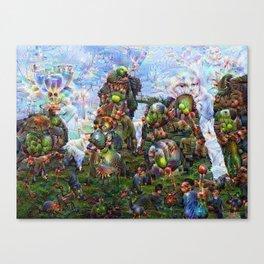 DeepDream Pictures, Rocks Canvas Print