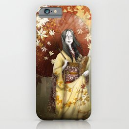 Bringing home a hint of autumn iPhone Case