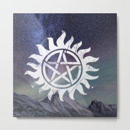 supernatural anti possession symbol Metal Print