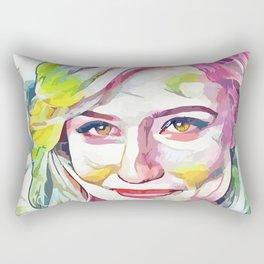 Dianna Agron (Creative Illustration Art) Rectangular Pillow