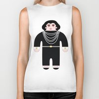 coco Biker Tanks featuring Coco by Late Greats