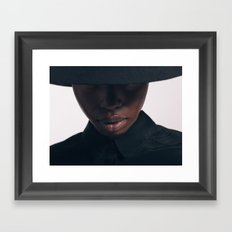 Giannina Portrait with hat Framed Art Print
