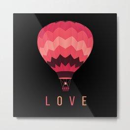 Hot Air Balloon Love Metal Print