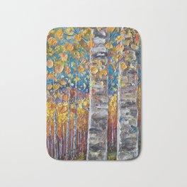 Colorful Autumn Aspen Trees  Bath Mat
