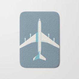 707 Passenger Jet Airliner Aircraft - Slate Bath Mat