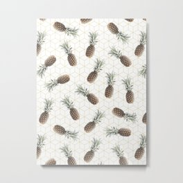 Raining Pineapples Metal Print