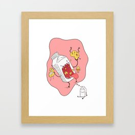 Milk n' Cookies  Framed Art Print