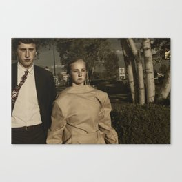 Television On Mute Canvas Print