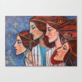 Tribute to Art Nouveau Canvas Print