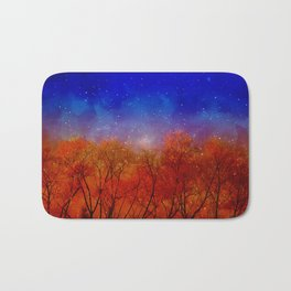 Night on fire Bath Mat