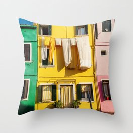 Beautiful Burano Italy Throw Pillow