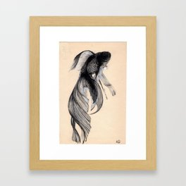 Swim upstream Framed Art Print