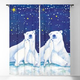 Polar bears, arctic animals Blackout Curtain