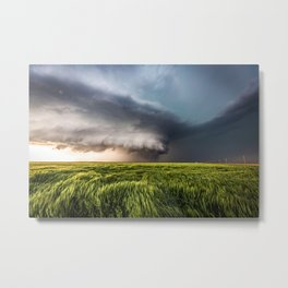 Leoti's Masterpiece - Incredible Storm in Western Kansas Metal Print