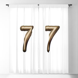 Chocolate Number 7 Blackout Curtain