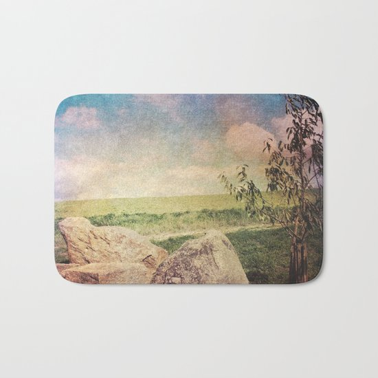 Vintage Landscape 01 Bath Mat