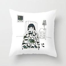 Animal Fear Throw Pillow