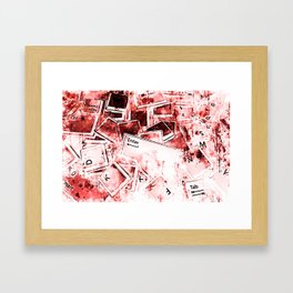 keyboard keys letters wsdri Framed Art Print