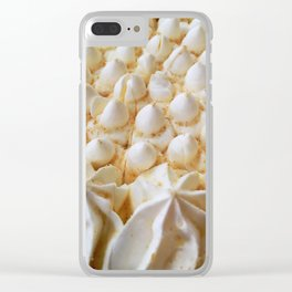 whipped cream mountain range Clear iPhone Case