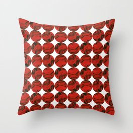 Roses (red) Throw Pillow